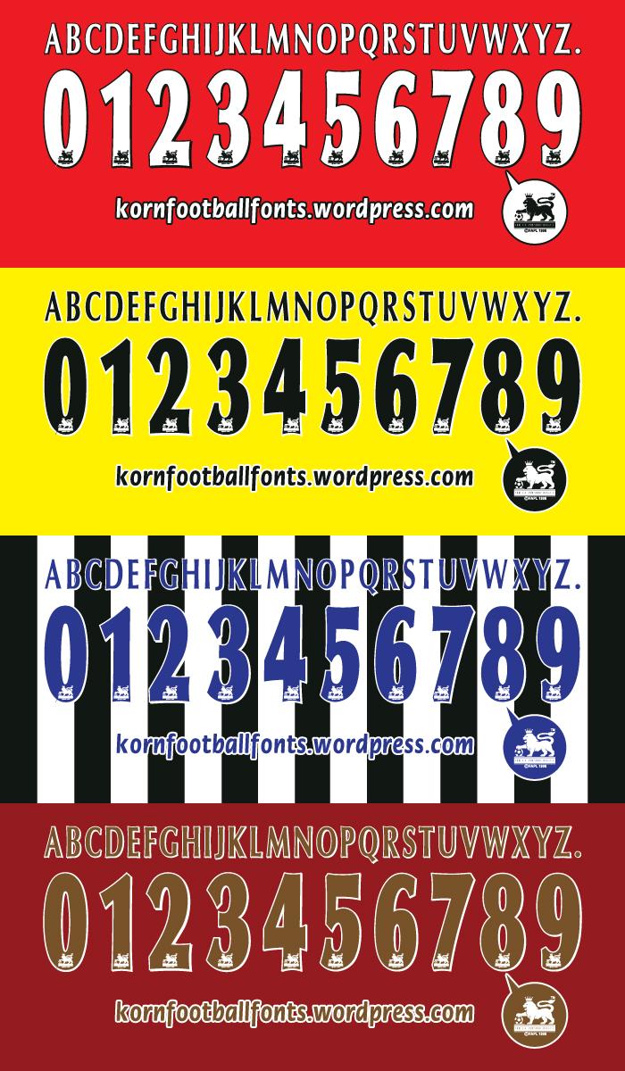 English Premier League 97-06 Vector Font | KoRnFootballFONTS