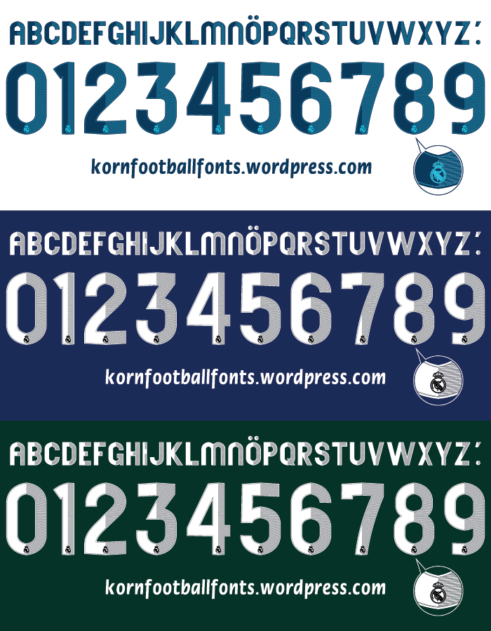 Real Madrid Font 2014